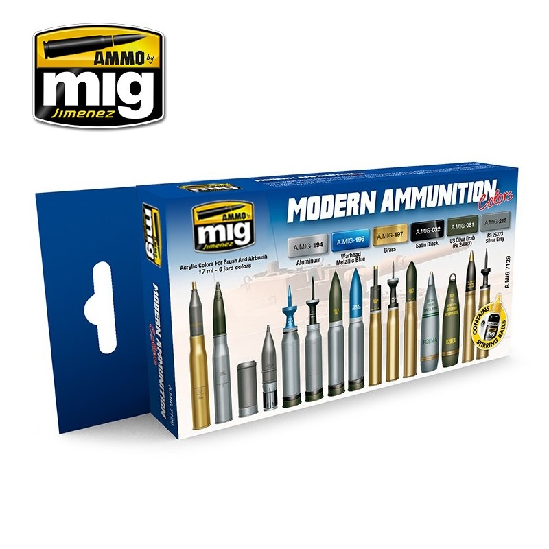 Ammo by Mig Jimenez Modern Ammunition - A.MIG-7129