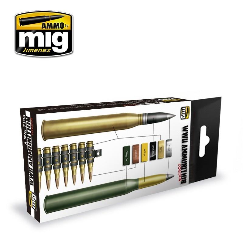 Ammo by Mig Jimenez WWII Ammunition Colors - A.MIG-7124