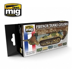 WWI &  WWII French Camouflage Colors - A.MIG-7110