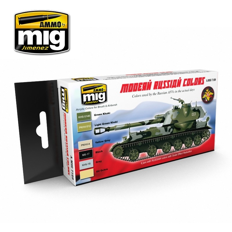 Ammo by Mig Jimenez Modern Russian Camo Colors - A.MIG-7109