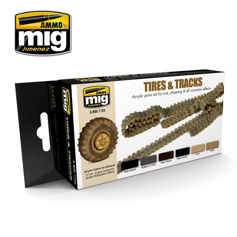 Ammo by Mig Jimenez Tires And Tracks - A.MIG-7105