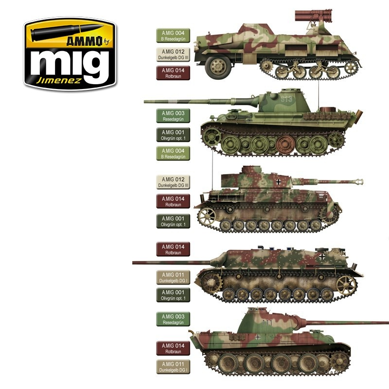 Ammo by Mig Jimenez Late War German Colors - A.MIG-7101