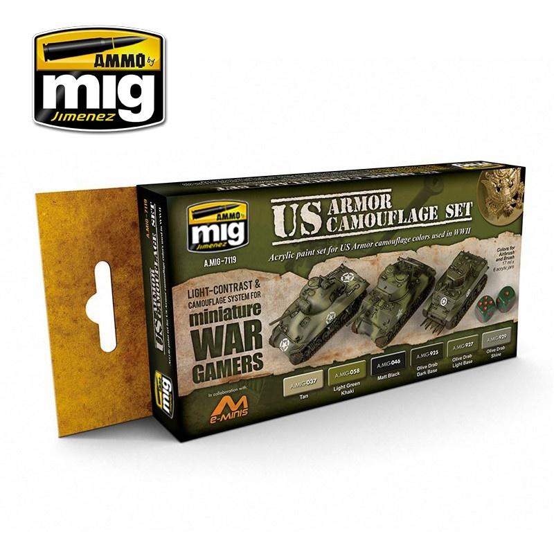 Ammo by Mig Jimenez Wargame Paint Sets - Wargame Us Armor Set - A.MIG-7119