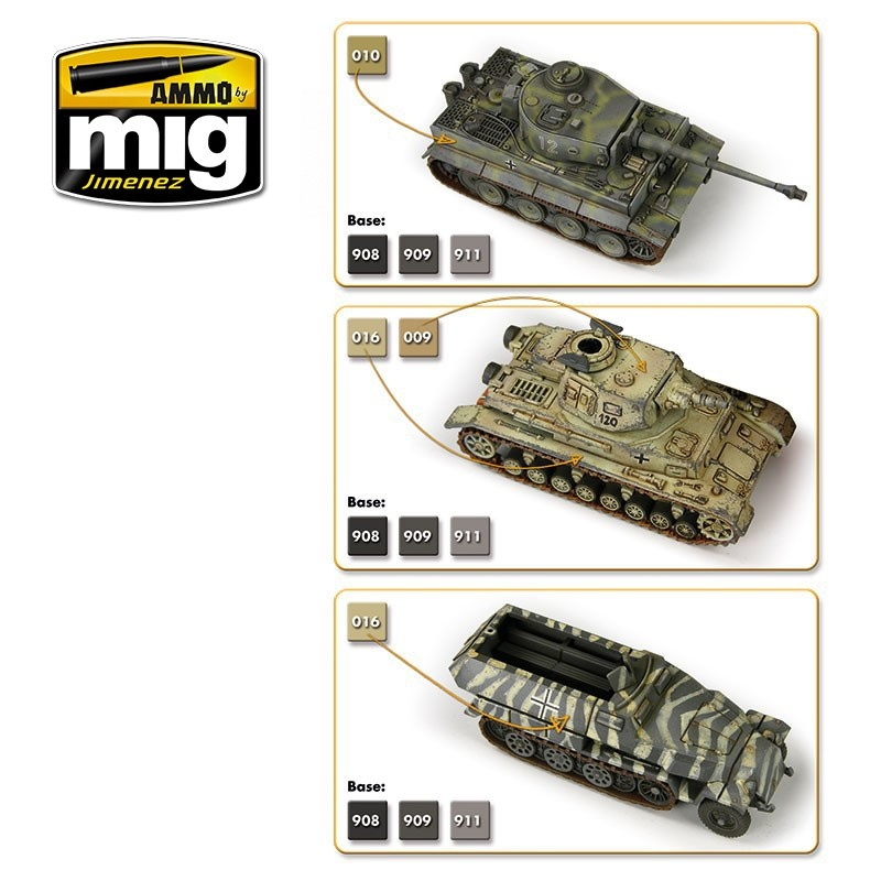 Ammo by Mig Jimenez Wargame Paint Sets - WARGAME EARLY AND DAK GERMAN SET - A.MIG-7116