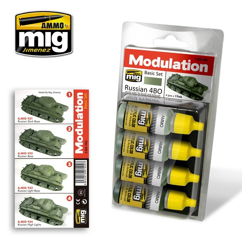Ammo by Mig Jimenez Modulation Paint Sets - RUSSIAN 4BO MODULATION SET - A.MIG-7004