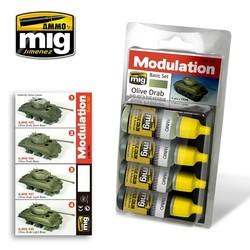 Modulation Paint Sets - Olive Drab Modulation Set - A.MIG-7003