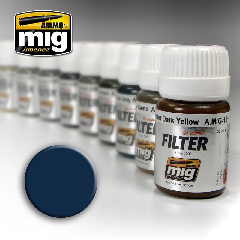 Ammo by Mig Jimenez Filter - Blue For Dark Grey - 35ml - A.MIG-1509