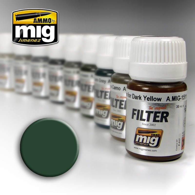 Ammo by Mig Jimenez Filter - Green For Grey Green - 35ml - A.MIG-1508