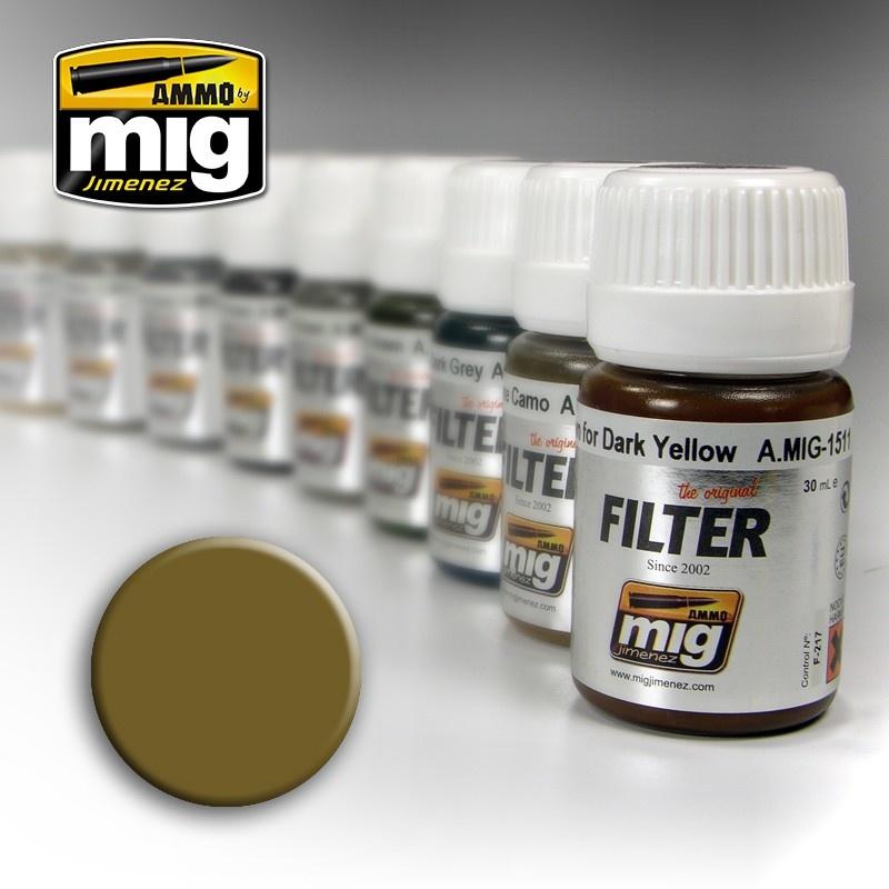 Ammo by Mig Jimenez Filter - Ochre For Light Sand - 35ml - A.MIG-1503