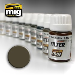Filter - Dark Grey For White  - 35ml - A.MIG-1502
