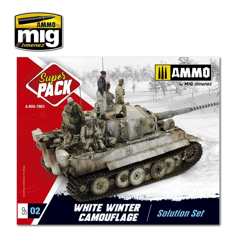 Ammo by Mig Jimenez White Winter Camouflage Weathering  Super Pack - A.MIG-7803