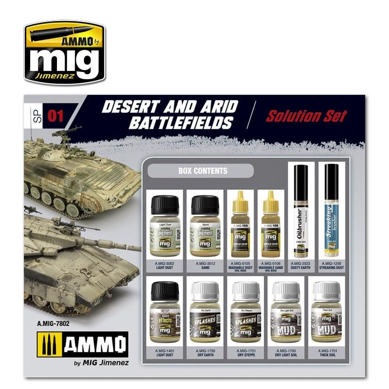 Ammo by Mig Jimenez Desert & Arid Battlefields Super Pack - A.MIG-7802