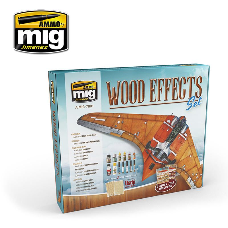 Ammo by Mig Jimenez Wood Effects Super Pack - A.MIG-7801