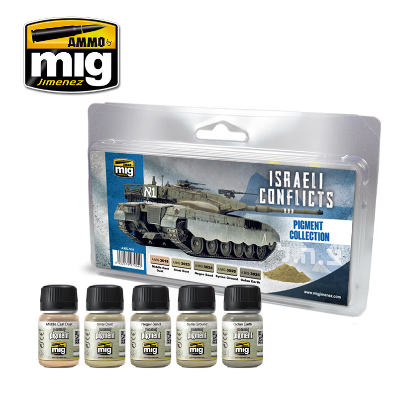 Ammo by Mig Jimenez Weathering Sets - Israeli Conflicts Pigment Collection  - A.MIG-7454