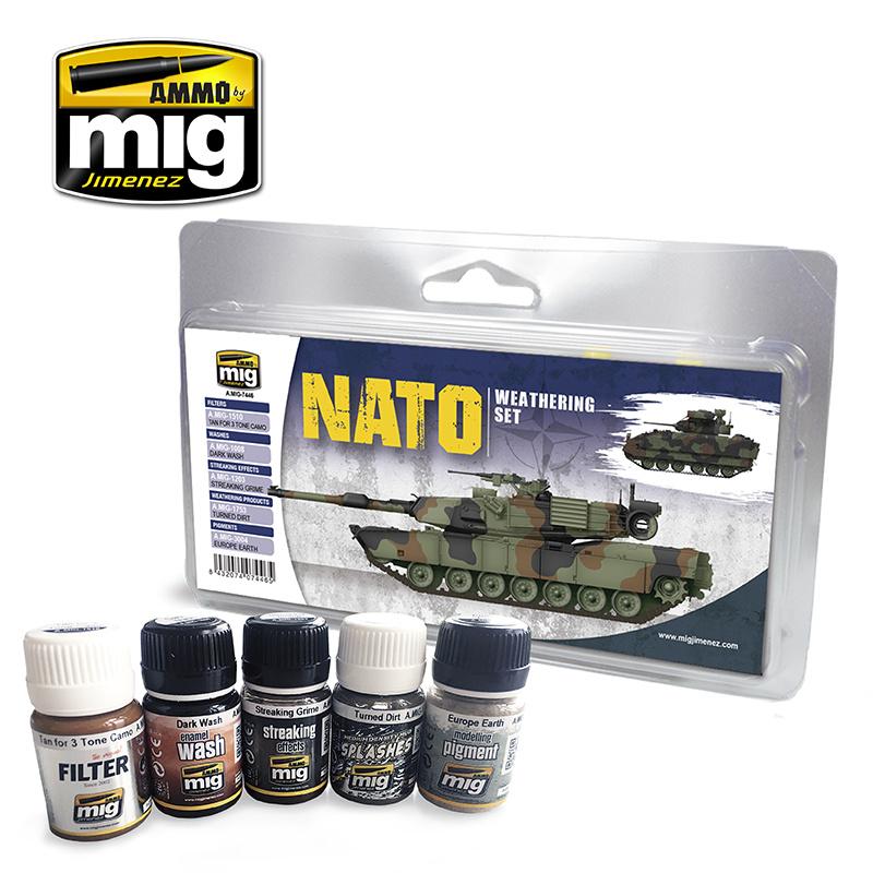 Ammo by Mig Jimenez Weathering Sets - Nato Weathering Set - A.MIG-7446
