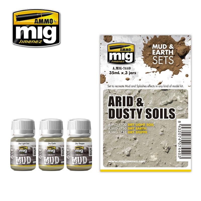 Ammo by Mig Jimenez Weathering Sets - Arid & Dusty Soils - A.MIG-7440