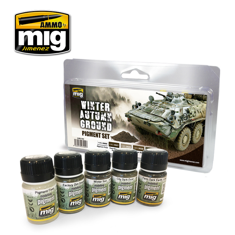 Ammo by Mig Jimenez Weathering Sets - Winter-Autumn Ground Pigment Set - A.MIG-7455