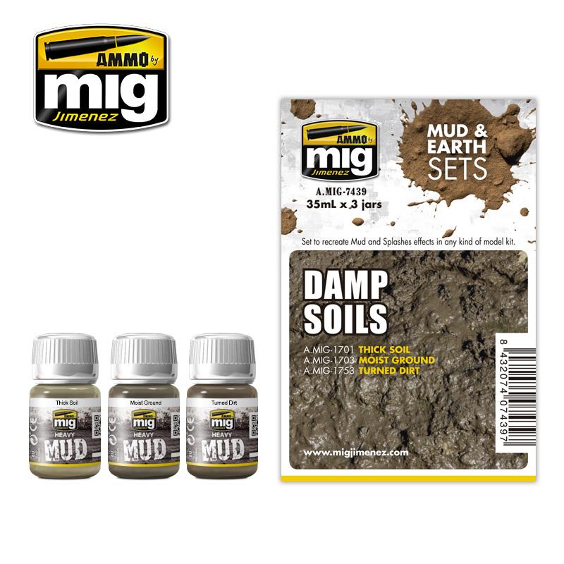 Ammo by Mig Jimenez Weathering Sets - Damp Soils - A.MIG-7439