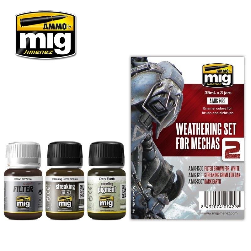 Ammo by Mig Jimenez Weathering Sets - Weathering Set For Mechas  - A.MIG-7429