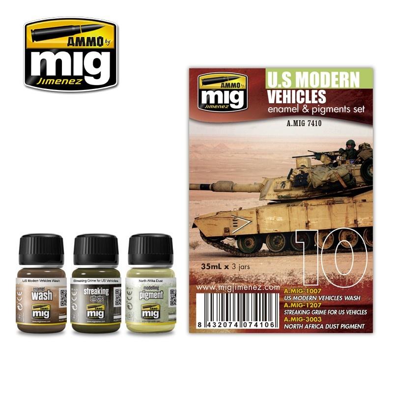 Ammo by Mig Jimenez Weathering Sets - Us Modern Vehicles Set - A.MIG-7410