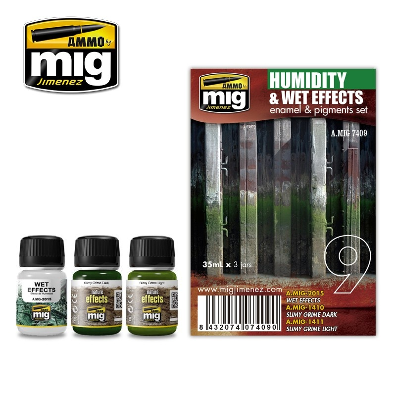 Ammo by Mig Jimenez Weathering Sets - Humidity And Wet Effects  - A.MIG-7409