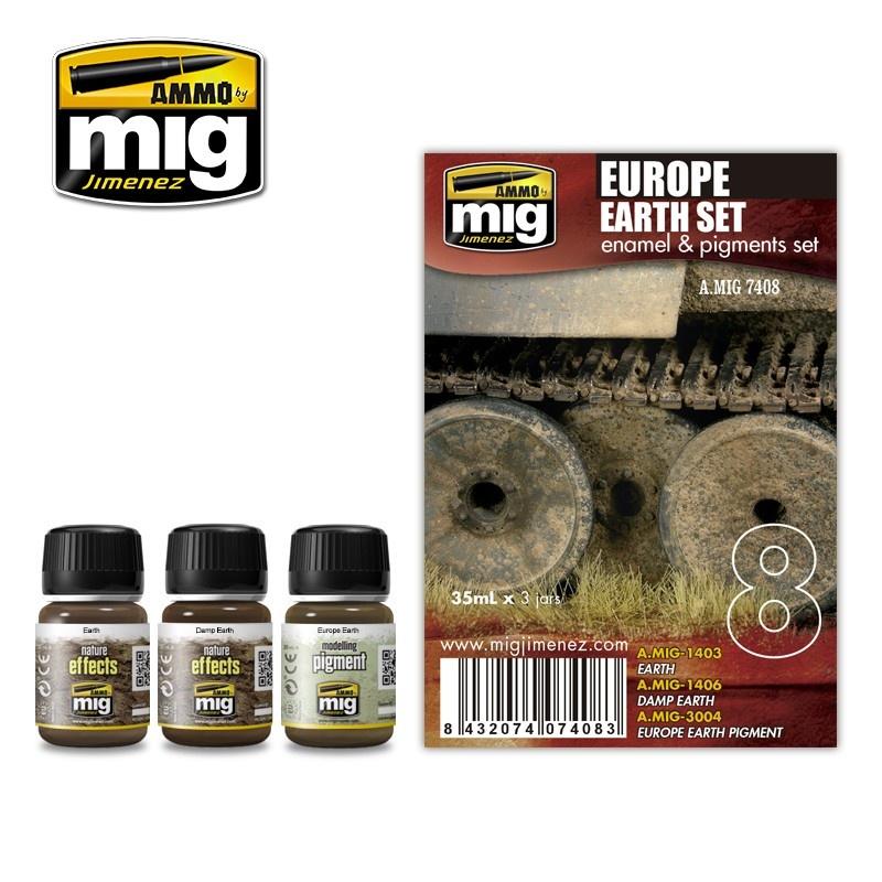 Ammo by Mig Jimenez Weathering Sets - Europe Earth Set  - A.MIG-7408