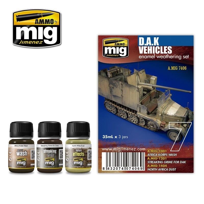 Ammo by Mig Jimenez Weathering Sets - Dak Set  - A.MIG-7406