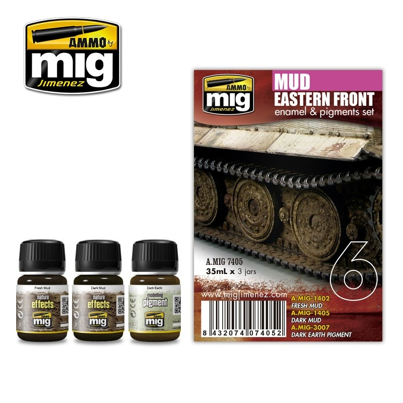 Ammo by Mig Jimenez Weathering Sets - Easter Front Mud Set  - A.MIG-7405