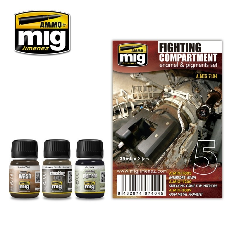 Ammo by Mig Jimenez Weathering Sets - Fight Compartment Set - A.MIG-7404