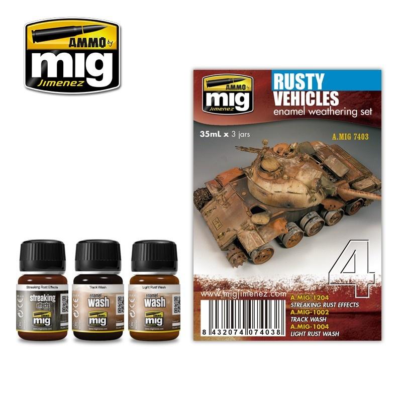 Ammo by Mig Jimenez Weathering Sets - Rusty Vehicles  - A.MIG-7403