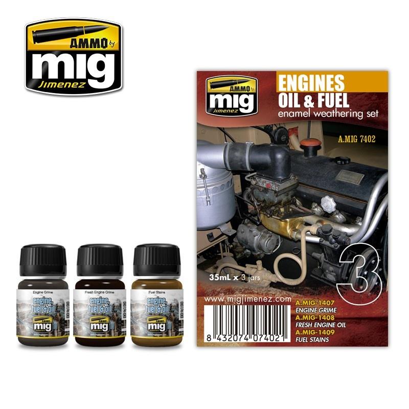 Ammo by Mig Jimenez Weathering Sets - Engines Set  - A.MIG-7402