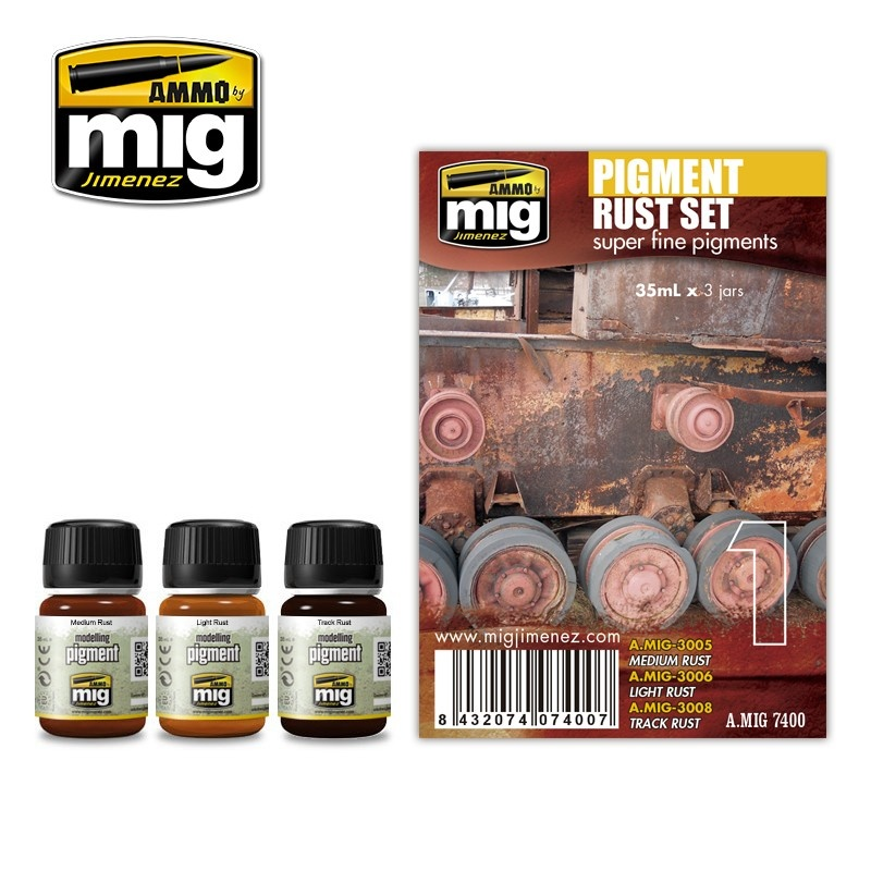 Ammo by Mig Jimenez Weathering Sets - Pigment Rust Set  - A.MIG-7400