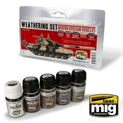 Modern Russian Vehicles Weathering Set - A.MIG-7147