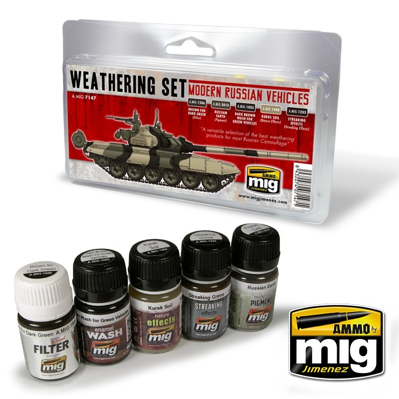 Ammo by Mig Jimenez Weathering Sets - Modern Russian Vehicles Weathering Set - A.MIG-7147