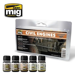 Civil Engines Weathering Set - A.MIG-7146