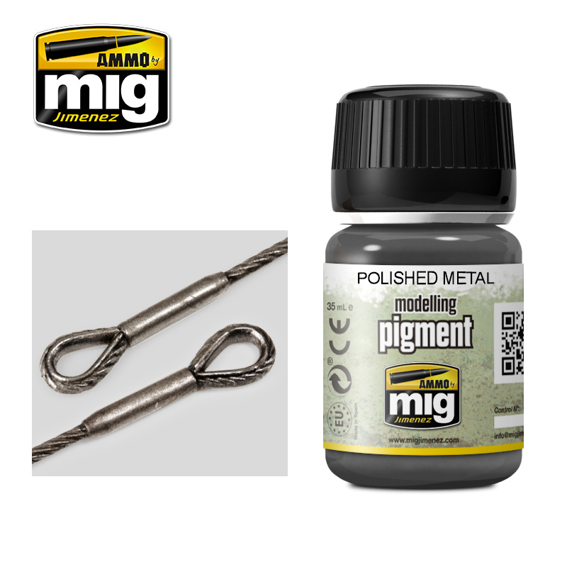 Ammo by Mig Jimenez Pigment - Polished Metal Pigment - 35ml - A.MIG-3021