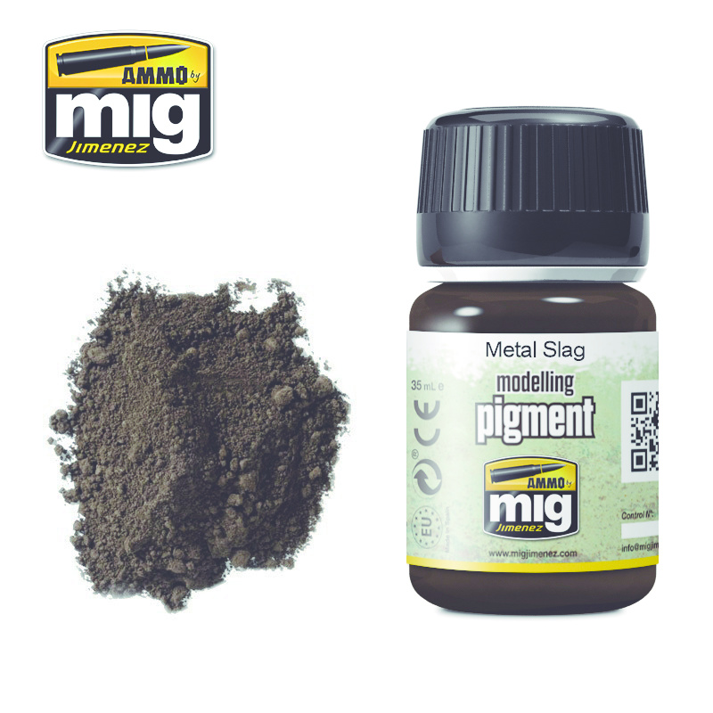Ammo by Mig Jimenez Pigment - Metal Slag - 35ml - A.MIG-3020