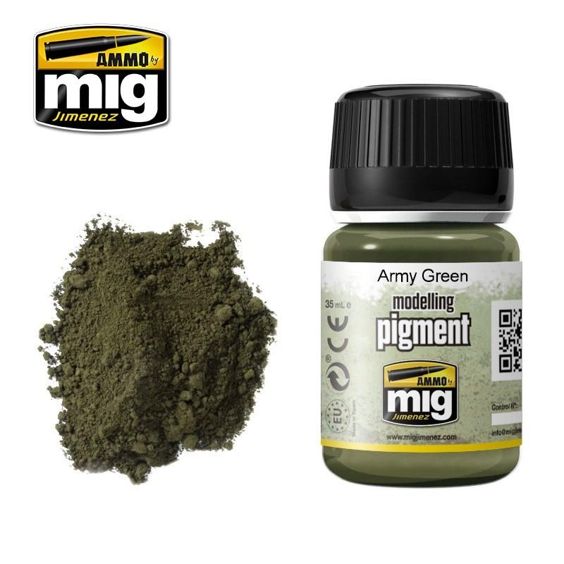 Ammo by Mig Jimenez Pigment - Army Green - 35ml - A.MIG-3019
