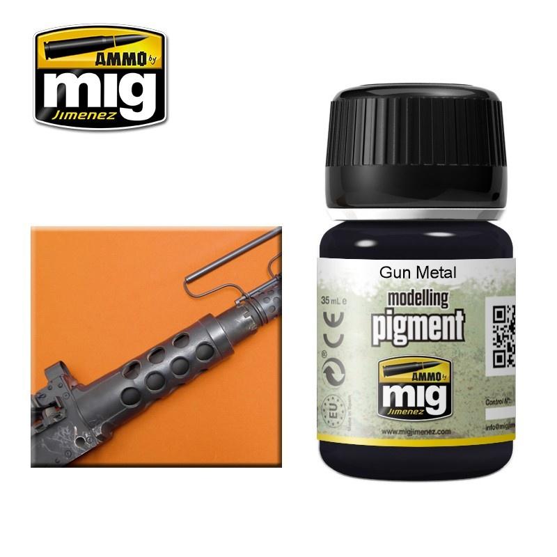 Ammo by Mig Jimenez Pigment - Gun Metal - 35ml - A.MIG-3009