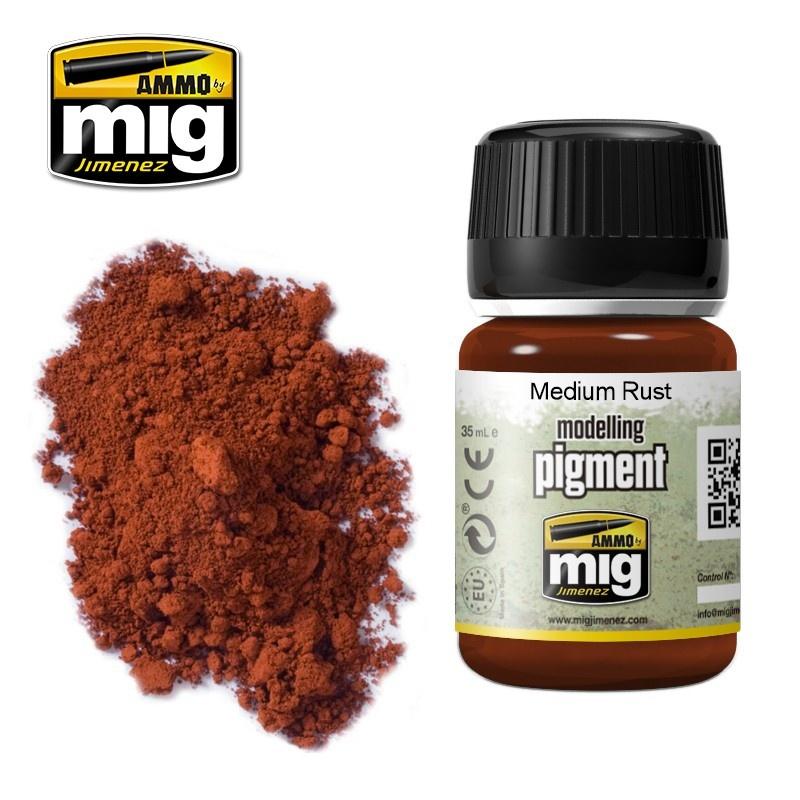 Ammo by Mig Jimenez Pigment - Medium Rust - 35ml - A.MIG-3005