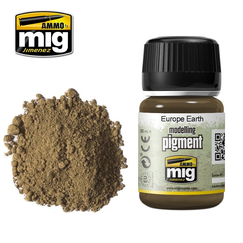 Ammo by Mig Jimenez Pigment - Europe Earth - 35ml - A.MIG-3004