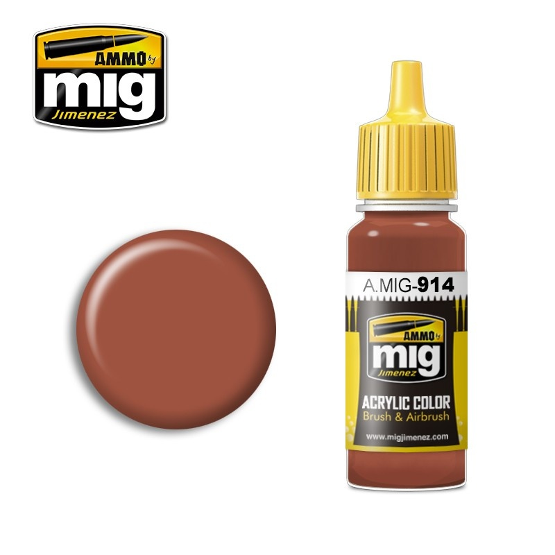 Ammo by Mig Jimenez Modulation Series - Red Brown Light - 17ml - A.MIG-0914