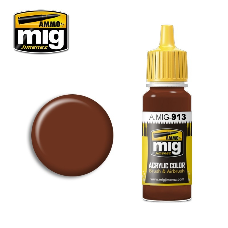 Ammo by Mig Jimenez Modulation Series - Red Brown Base - 17ml - A.MIG-0913