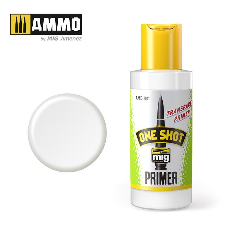 Ammo by Mig Jimenez One Shot Primer -Transparent Primer - 60ml - A.MIG-2041
