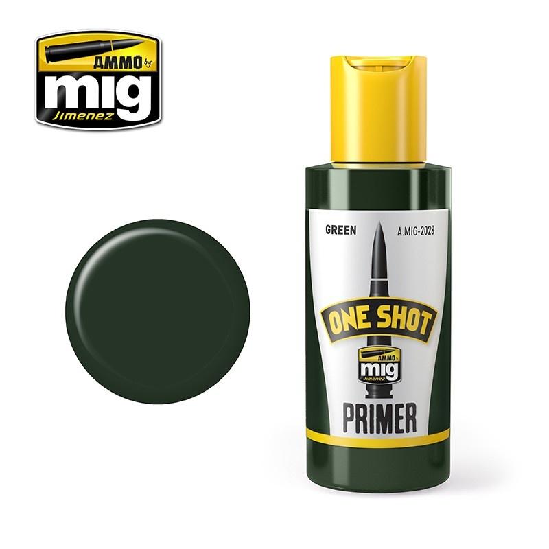 Ammo by Mig Jimenez One Shot Primer – Green - 60ml - A.MIG-2028