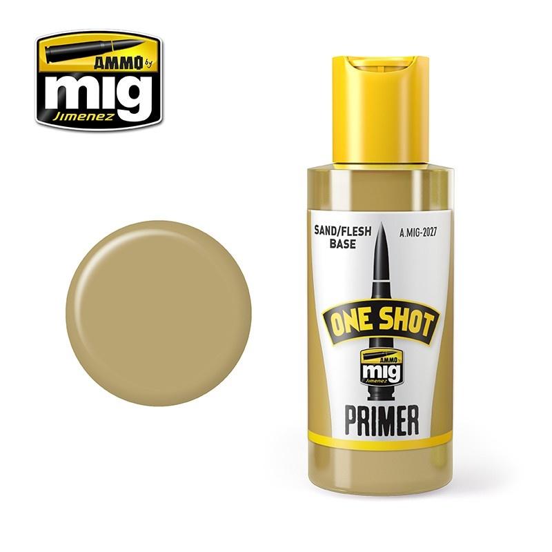 Ammo by Mig Jimenez One Shot Primer - Sand Flesh - 60ml - A.MIG-2027