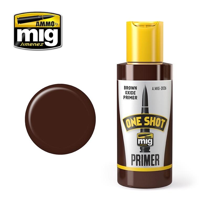 Ammo by Mig Jimenez One Shot Primer - Brown Oxide Primer - 60ml - A.MIG-2026