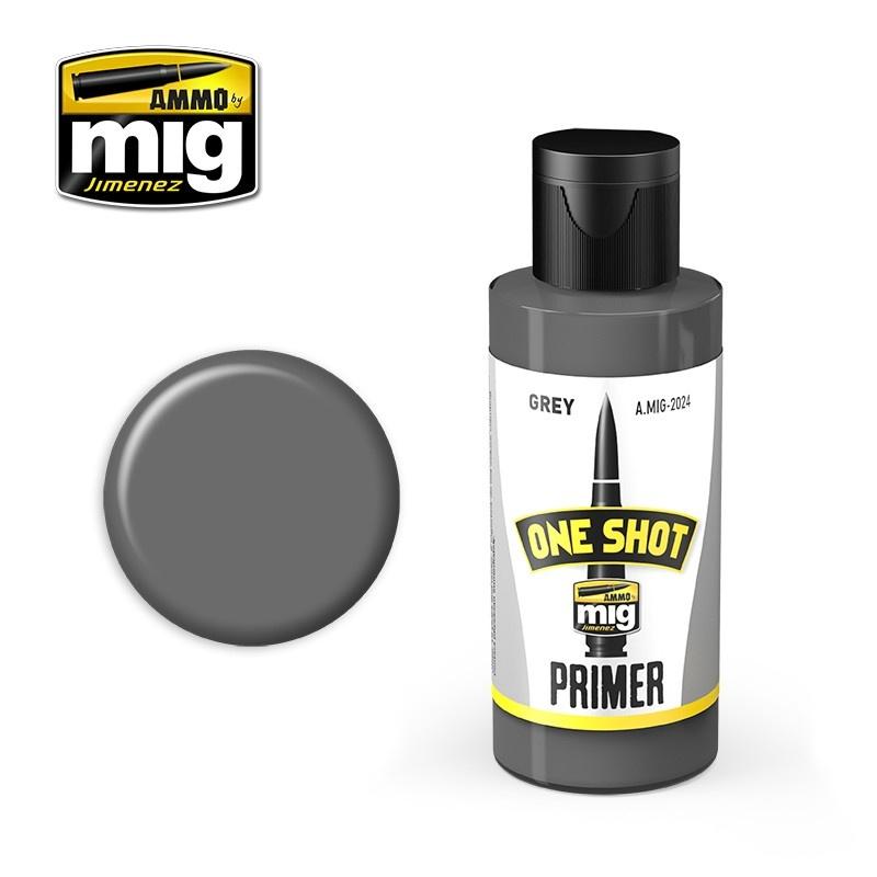 Ammo by Mig Jimenez One Shot Primer - Grey - 60ml - A.MIG-2024