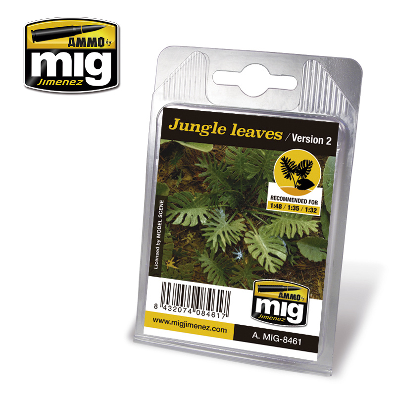 Ammo by Mig Jimenez Diorama Series - Jungle Leaves (Version 2) - A.MIG-8461