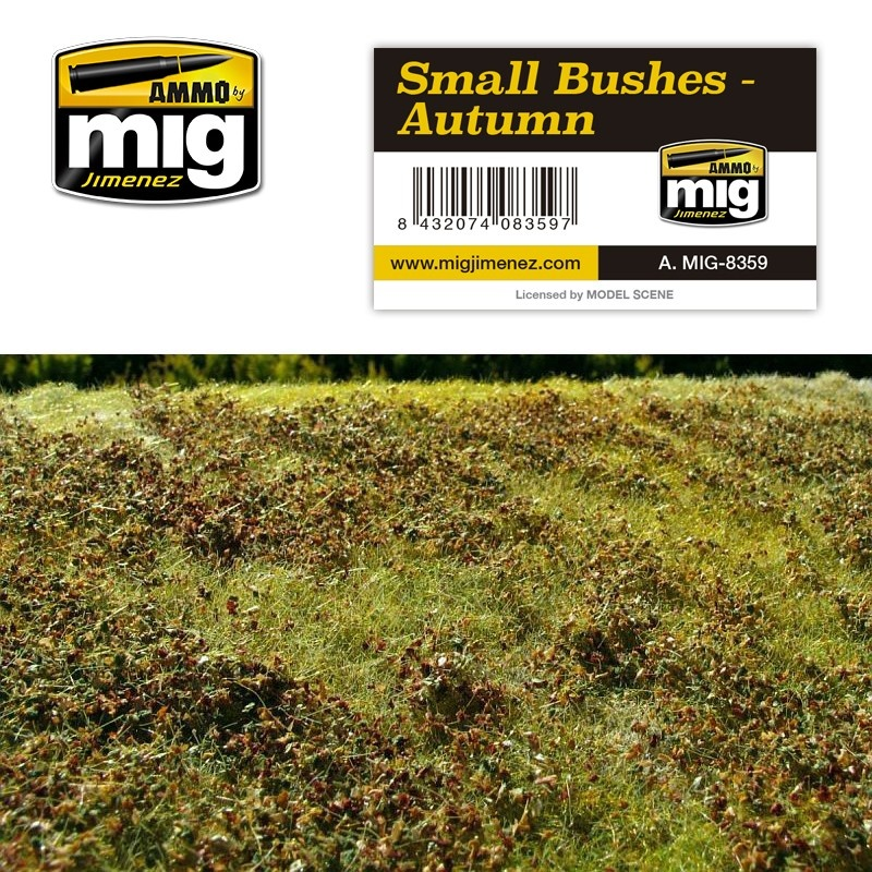 Ammo by Mig Jimenez Diorama Series - Small Bushes - Autumn - A.MIG-8359